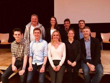 v.l.n.r.: Tim Bergmann, Thom Rasche, Julian Walter, Uta Dänekamp, Heinke Katja Eichhorn, Oliver Buth, Fabienne Mangelsdorff, Dr. Stefan Maisch, Mark Bremer
