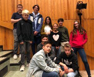 2019-20: Die Mitglieder der Schulkonferenz (Jonathan, Tom, Tom, Yalin, Carla, Lennart, Delia, Emilia, Noah, Leander)